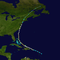 Hurricane Irene 2011 actual track