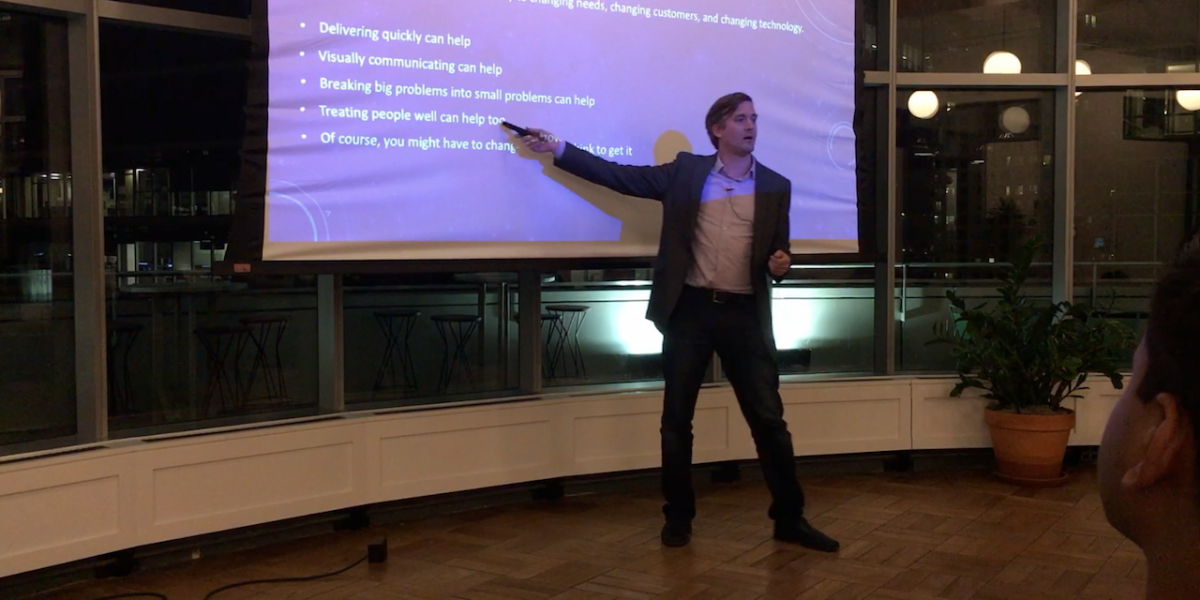 Agile Transformations: Common Challenges and Solutions (live at the Chicago People Side of Software meetup)